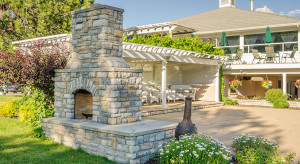 How to build outdoor brick barbeque in the landscape area?